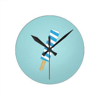Popsicle Round Clock