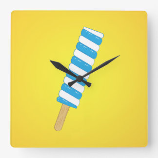 Popsicle Square Wall Clock