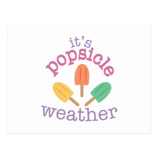 Popsicle Weather Postcard