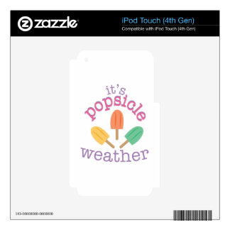 Popsicle Weather Skins For iPod Touch 4G