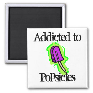 Popsicles 2 Inch Square Magnet