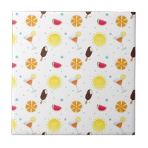 Popsicles and melons summer fun tile