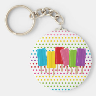 Popsicles and Polka Dots Keychain