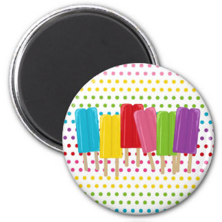 Popsicles and Polka Dots Refrigerator Magnet
