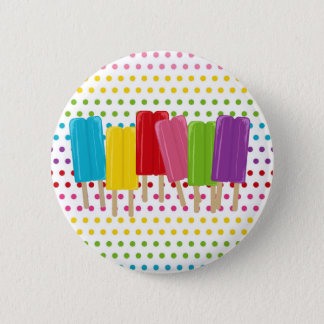 Popsicles and Polka Dots Pinback Button