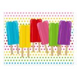 Popsicles and Polka Dots Postcard