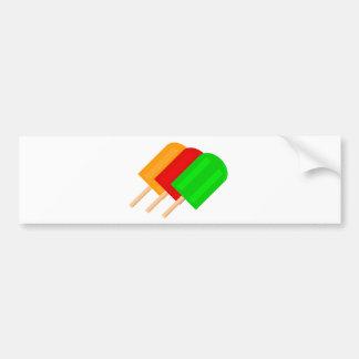 Popsicles Car Bumper Sticker