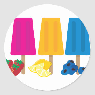 Popsicles Classic Round Sticker