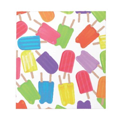 ¡Popsicles coloridos! Bloc