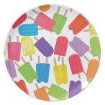 ¡Popsicles coloridos! Plato Para Fiesta