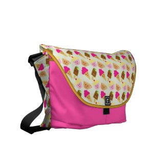 Popsicles Ice Cream Tea and Cupcake Pattern Messen Messenger Bag