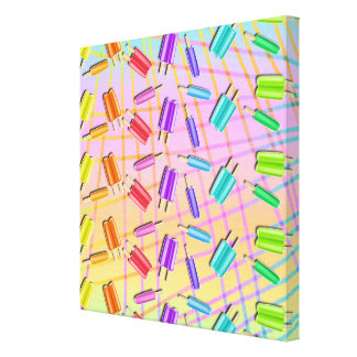 Popsicles Pop Art (sq) Gallery Wrapped Canvas