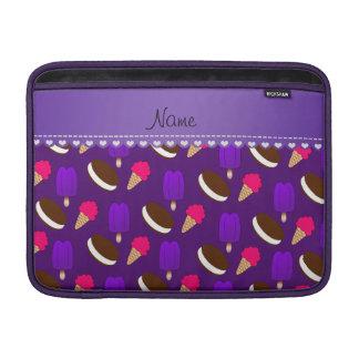 Popsicles púrpuras conocidos de los bocadillos de fundas MacBook
