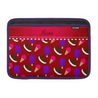 Popsicles rojos conocidos de los bocadillos de los fundas MacBook