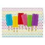 Popsicles y lunares Notecards Tarjetón