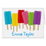 Popsicles y lunares tarjetas