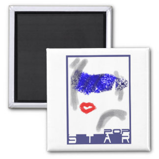 Popstar fridge magnet square