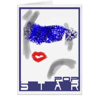 Popstar greeting/birthday card