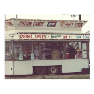 Pop't Corn and Snow Cones Rural County Fair Postcard