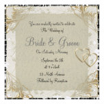 Popular and Elegant  Old Paper  Wedding Invitation Announcements