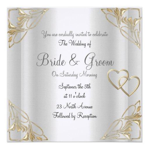 Elegant Silver Wedding Invitations: Popular And Elegant Silver Wedding Invitation