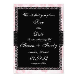 Popular Baby Pink Cheetah Save The Date Notice Custom Invitation