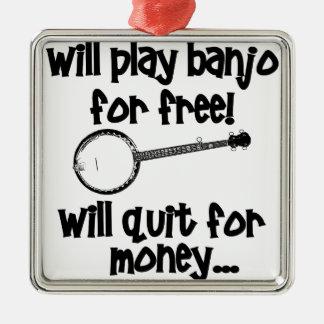 Popular Banjo Metal Ornament