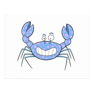 Popular Blue Crabby Crab Unique Cute Gift Present Postcard