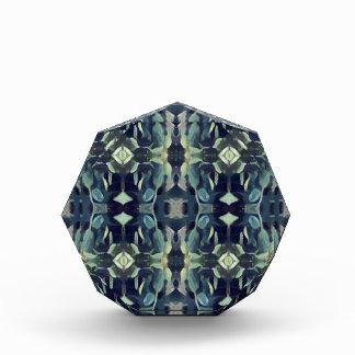 Popular Blue Teal Colors Tribal pattern Award