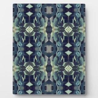Popular Blue Teal Colors Tribal pattern Plaque