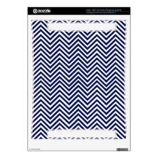 Popular Blue Zigzag Chevron Retro Vintage Design Xbox 360 Console Decals