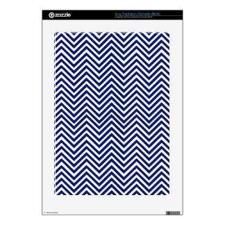 Popular Blue Zigzag Chevron Retro Vintage Design Skin For PS3 Console