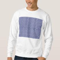 Popular Blue Zigzag Chevron Retro Vintage Design Sweatshirt