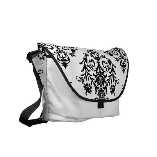 Popular Damasl Black and White Rickshaw Bag