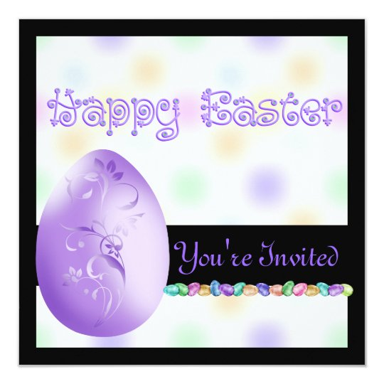 Popular Easter Invitations with Eggs & Bunny's