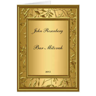 Popular Gold Bar Mitzvah Ceremony Greeting Card