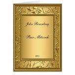 Popular Gold Bar Mitzvah Invitation Greeting Card