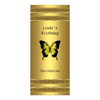 Popular Gold Invitation Any Birthday or Party
