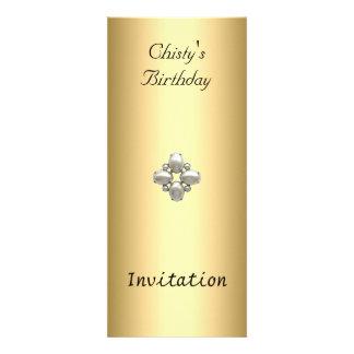 Popular Gold Thin Invitation Any Birthday Party