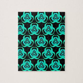 Popular Hip Aquamarine Pattern Jigsaw Puzzle