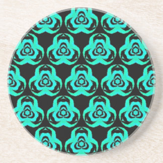 Popular Hip Aquamarine Pattern Sandstone Coaster