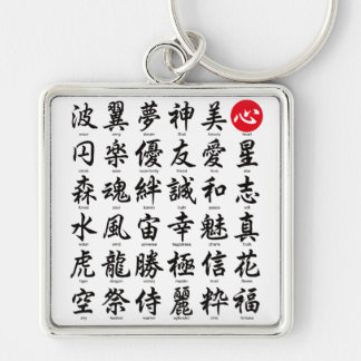 Popular Japanese Kanji Keychain