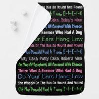 Popular Kid Songs Baby Blanket