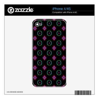 Popular Modern Neon Green Pink Seamless Pattern Decal For iPhone 4
