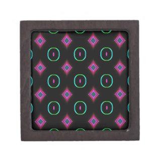 Popular Modern Neon Green Pink Seamless Pattern Gift Box