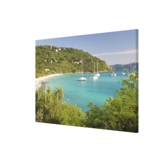 Popular moorings for bareboaters and charter canvas print