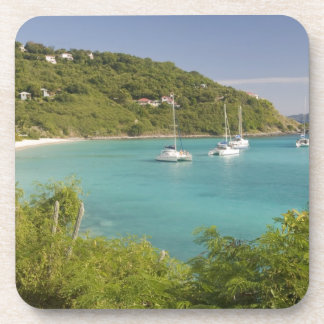 Popular moorings for bareboaters and charter drink coaster