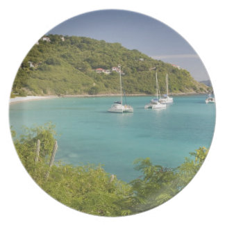 Popular moorings for bareboaters and charter melamine plate