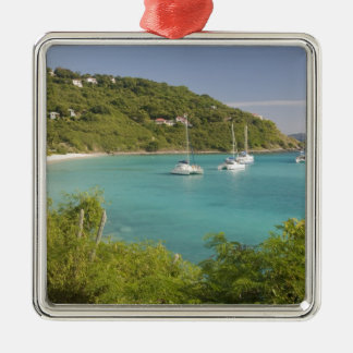 Popular moorings for bareboaters and charter metal ornament