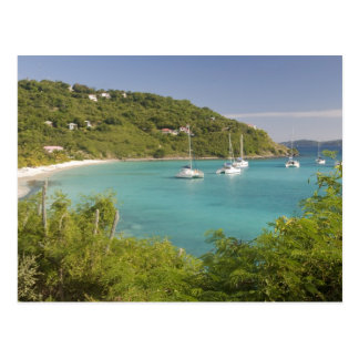 Popular moorings for bareboaters and charter postcard